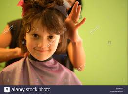 hair cute for 6 year old girls a 6 year old girl gets a haircut stock photo royalty free image