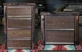 Reclaimed Wood File Cabinet Rustic File Cabinet Live Edge Walnut Redwood Littlebranch Farm