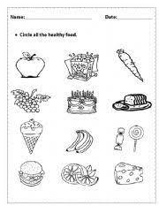 healthy foods worksheet lesson planet canyon ridge pediatric