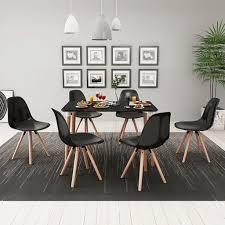 salotto sala da pranzo vidaxl 7 pz set tavolo tavolino e sedie seggiole per salotto sala