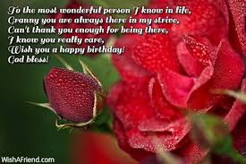 to the most wonderful person birthday wishes for grandmother