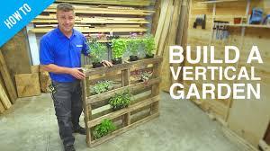 How To Build A Vertical Garden - how to build a diy vertical wall garden youtube
