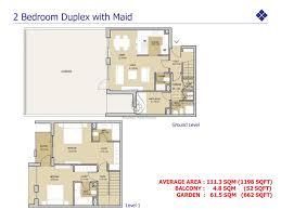 Duplex Floor Plan Mudon Views 3 Br Duplex With Maid U0026 Terrace Floor Plan