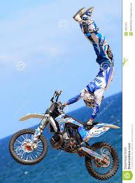 fmx freestyle motocross rider xavi dols fmx freestyle extreme barcelona editorial photo