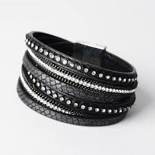 leather rhinestone bracelet images Vintage southwestern leather rhinestone bangle wildnchic jpg