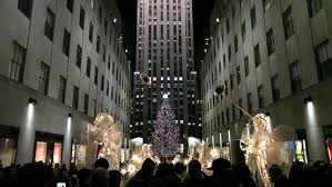 new york city circa december 2014 an evening establishing