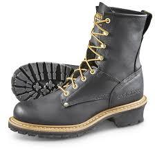 carolina men u0027s logger non steel toe work boots black 645628