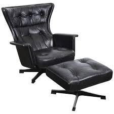Black Swivel Chair Bretz Pompadour Designer Leather Swivel Chair Black Swarovski