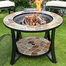 slate fire pit table madeira slate mosaic fire pit table amazon co uk garden outdoors