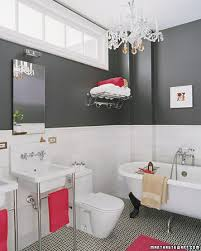 Gray And White Bathroom - sophisticated neutrals white vinegar painted chandelier and
