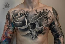 black and white chest of human skull with and