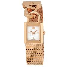 tory burch surrey ivory dial rose gold tone ladies watch trb7102