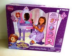 kids play vanity set new princess sofia the first talking vanity disney toys youtube