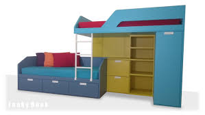 Bunk Beds With Bookcase Headboards Bedroom Pearl Bookcase Glitter Wallpaper For Bunk Beds With