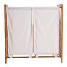 laundry separator hamper household bamboo frame sorter hamper laundry basket laundry