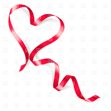 heart ribbon heart made of ribbon on white background royalty free vector