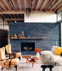 Black Paint For Fireplace Interior Exposed Brick Walls Design Inspiration Bricks Bold Colors And