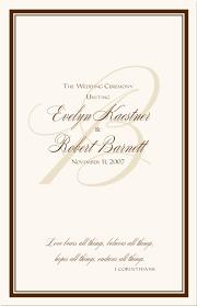 wedding program ideas templates wedding programs wedding program wording program sles program
