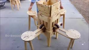 Wood Folding Table Plans Wow Incredible Folding Table Youtube
