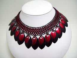 red gothic necklace images Scale necklace gothic necklace harley by chainedcreativity on zibbet JPG