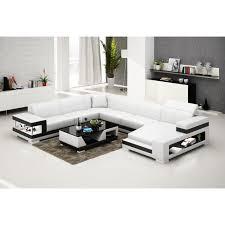 canapé d angle panoramique en cuir lille avec éclairage pop design