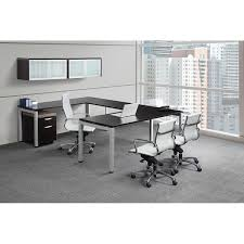 Shaped Desk Modern U Shaped Desk With Wall Mount Hutch Bridgecreek Office