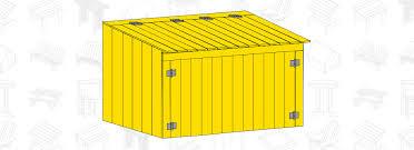 garbage can storage shed plans jpg