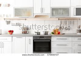 kitchen interior new modern kitchen interior stock photo 579690727