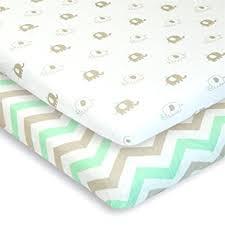 Portable Crib Mattress Cuddly Cubs Pack N Play Playard Sheets Set Of 2