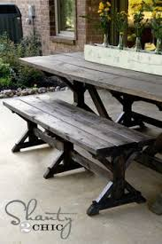 Diy Wood Picnic Table by How To Build A Picnic Table With Attached Benches Picnic Tables