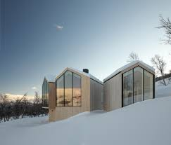 Split Houses by Split View Mountain Lodge By Reiulf Ramstad Architects