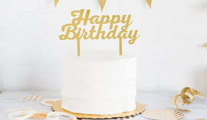 birthday cake topper gold acrylic happy birthday cake topper zurchers