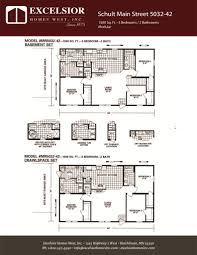 schult modular home floor plans schult main street 5032 42 excelsior homes west inc