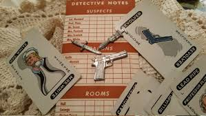 ephemera clue game from 50 u0027s 60 u0027s partial weapons cards and