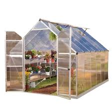 shop greenhouses at lowes com palram 12 ft l x 7 95 ft w x 7 57 ft h greenhouse