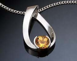 november birthstone jewelry citrine necklace november birthstone gemstone jewelry argentium