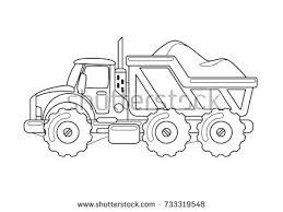 tipper truck coloring book stock vector 733319548 shutterstock