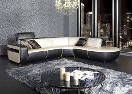 Modern Leather Sectional Couch Black And White Pearl Leather Sectional Sofa Couches And Sofas