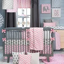 Pink And Gray Crib Bedding Swizzle Pink 4 Baby Crib Bedding Set By Sweet