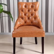 Leather Queen Anne Chair Chair Chair For Home Furniture Split Leather Nailhead Dining