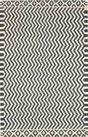 zigzag denim white dhurrie rug j31415