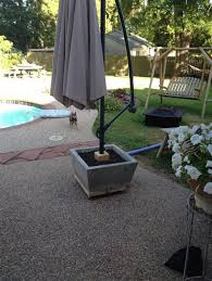 Diy Patio Umbrella Stand Hton Umbrella Side Tables Shanty 2 Chic Diy Patio Deck