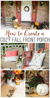 Cozy Front Porch Chairs On How To Create A Cozy Fall Front Porch Unoriginal Mom