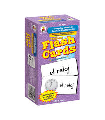 thanksgiving flash cards everyday words in spanish photographic flash cards grade pk 8