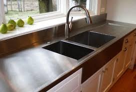 modern kitchen countertop ideas stylish metal kitchen countertop ideas giving industrial look to