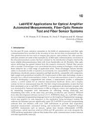 labview applications for optical amplifier automated measurements
