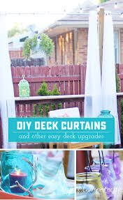 diy deck curtains and makeover sweet anne designs