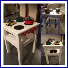 Ikea Play Kitchen Hack by Play Kitchen For Our Toddler Made From A 7 Ikea Oddvar Stool
