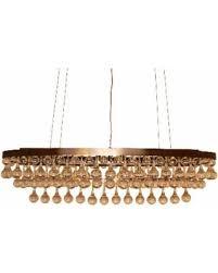 Chandelier Antique Brass Deal Alert Celeste Rectangular Oval Glass Drop Crystal Chandelier