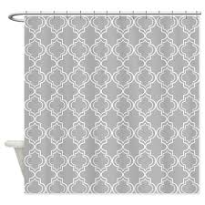 light gray moroccan quatrefoil shower curtain quatrefoil